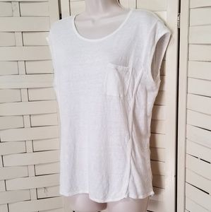 Athleta linen Sleeveless top Size L